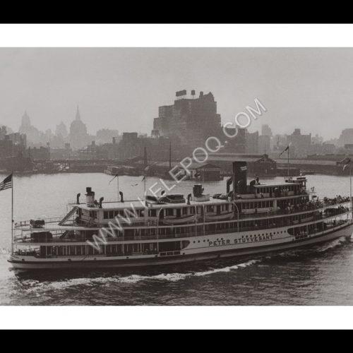 Photo d'époque New-York n°13 - Paquebot Hudson river - New-York - 1939