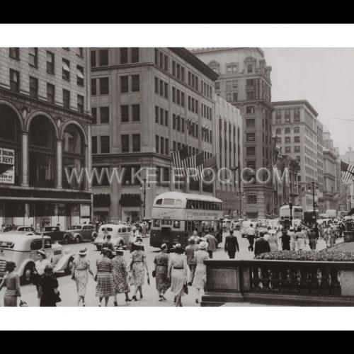 Photo d'époque New-York n°11 - Fifth avenue - 5ème avenue - New-York - Juillet 1939