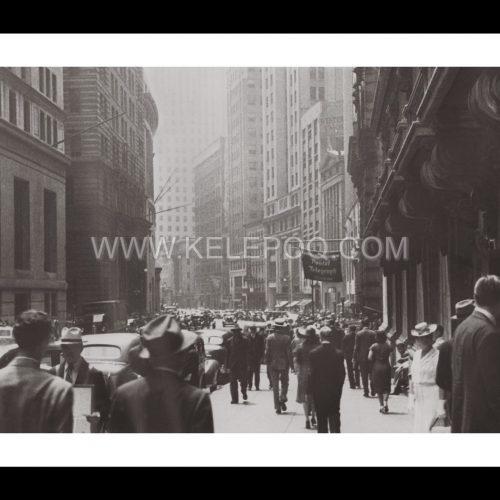 Photo d'époque New-York n°10 - Wall Street - New-York - Juillet 1939