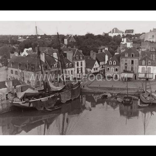 Photo d'époque Auray n°01 - Port de Saint-Goustan