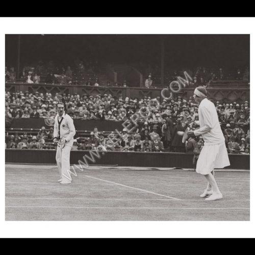 Photo d'époque sport n°52 - Wimbledon - double mixte G.R.O Crole-Rees et M.R. Watson