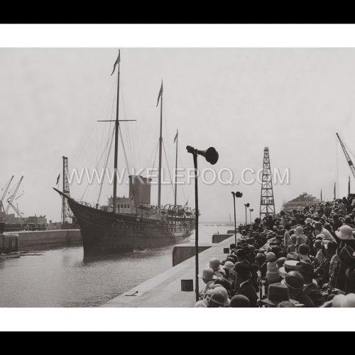 """Photo d'époque sur l'eau n°05 - bateau royal """"Victoria et Albert"""""""