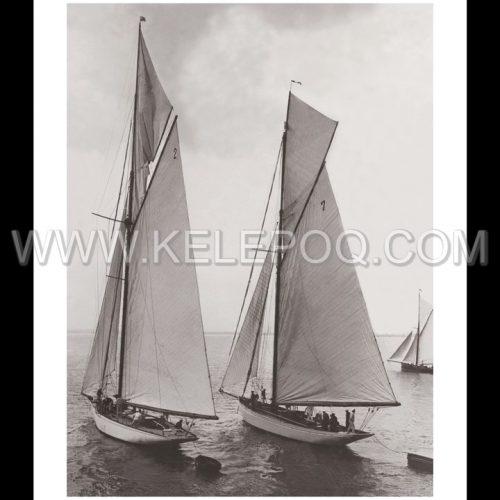 Photo d'époque sur l'eau 08 - régate annuelle Ramsgate Angleterre