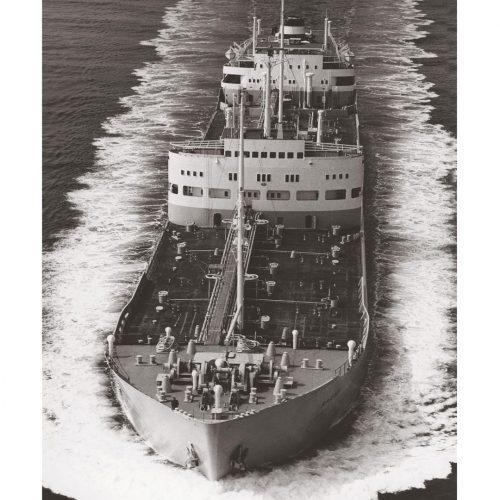 Photo d'époque sur l'eau n°01 - pétrolier - Oslo