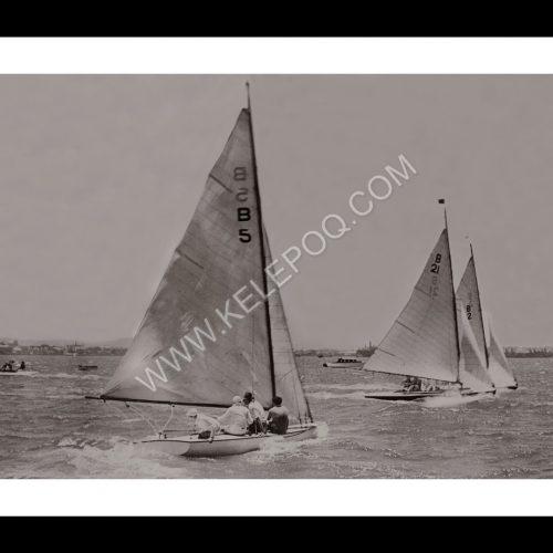 Photo d'époque sur l'eau n°13 - course de bateau Durban - Afrique du Sud