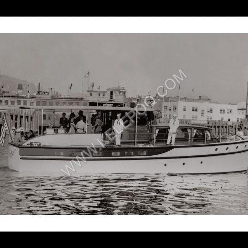 Photo d'époque sur l'eau 15 - yatch américain