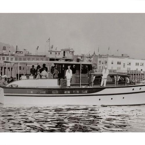 Photo d'époque sur l'eau 15 - yacht américain