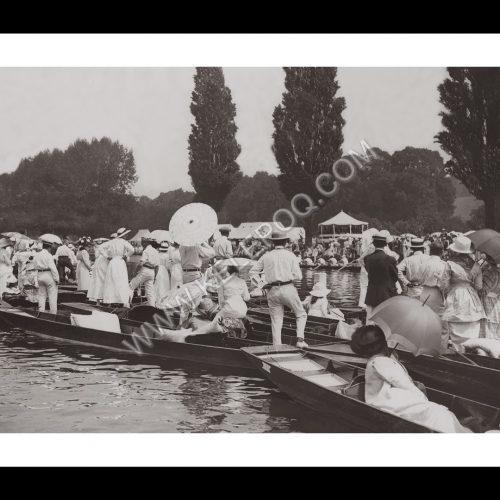 Photo d'époque sur l'eau n°18 - régate royale aviron Henley