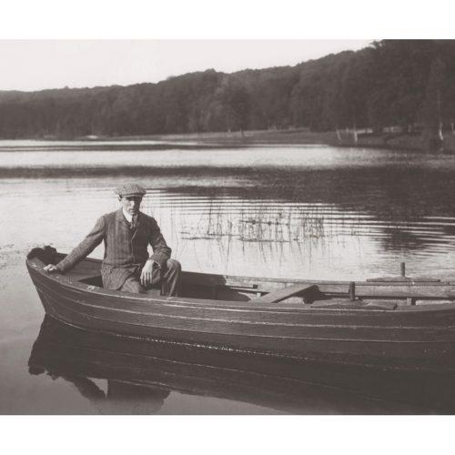 Photo d'époque sur l'eau n°19 - barque Compiègne - 1913