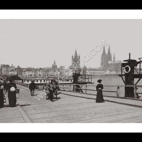 Photo d'époque Cologne n°08 - quai d'amarrage Konrad Adenauer - 1901