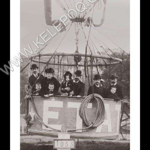 Photo d'époque dans les airs n°18 - décollage en montgolfière - 1903