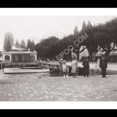 Photo d'époque Evian n°01 - bord du lac - 1928