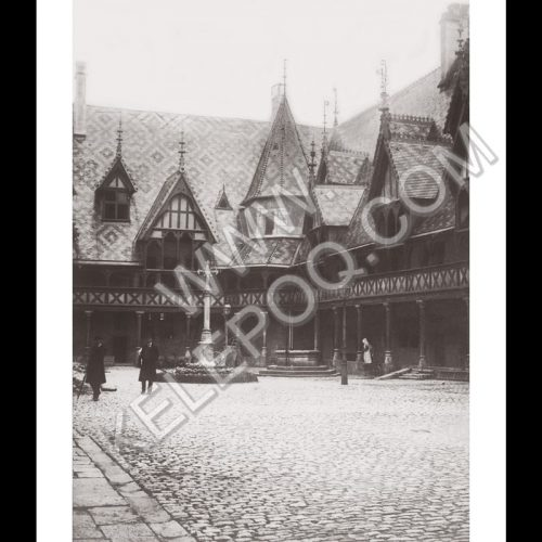 Photo d'époque Beaune n°01 - Hospices de Beaune 1912
