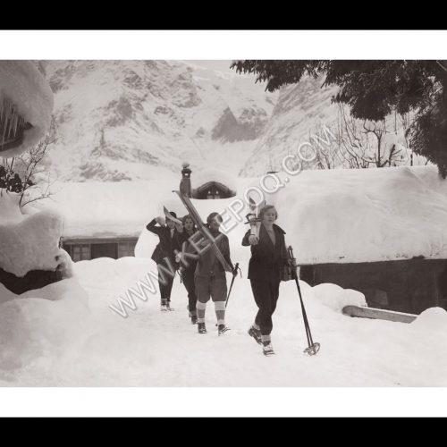 Photo d'époque Montagne n°96 - Station de ski d'Oberammergau en Haute Bavière en Allemagne