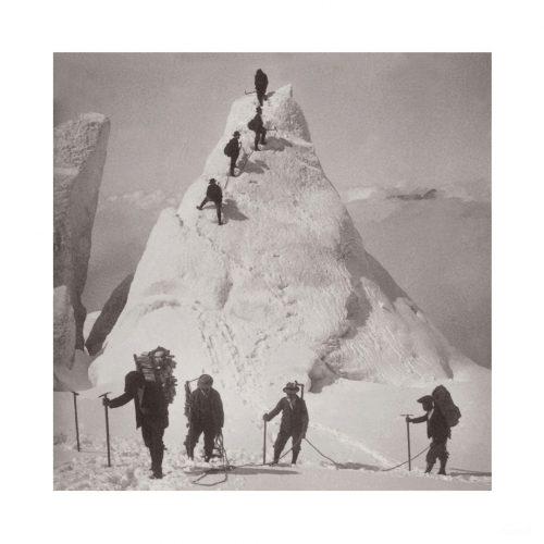 Photo d'époque montagne n°94 - Pyramides à la jonction - Chamonix