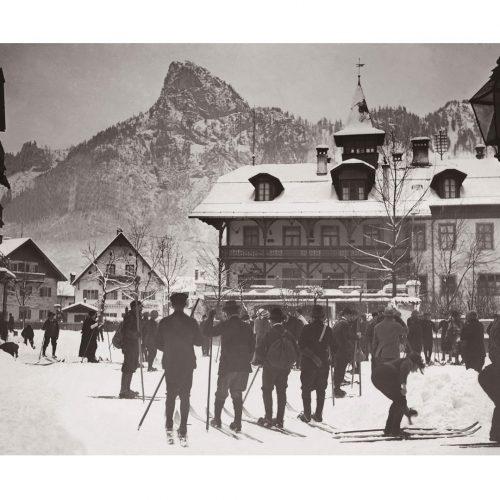 Photo d'époque Montagne n°96 - Station de ski Oberammergau - Haute Bavière - Allemagne