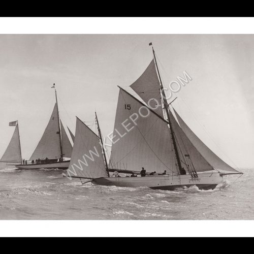 Photo d'époque sur l'eau n°26 - course bateaux Plymouth Santander