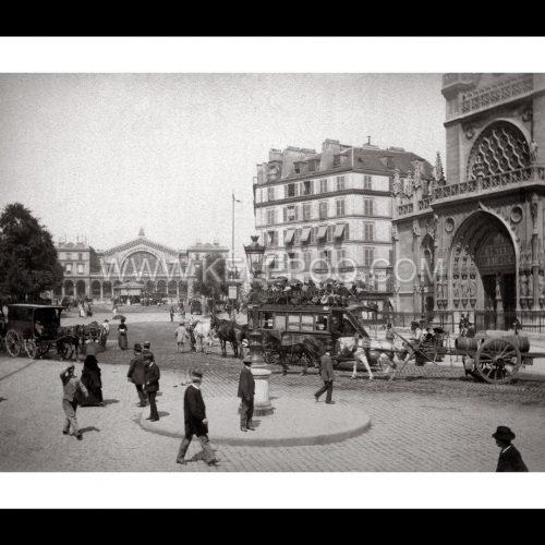 Photo d'époque Paris n°12 - Gare de l'Est et église Saint-Laurent