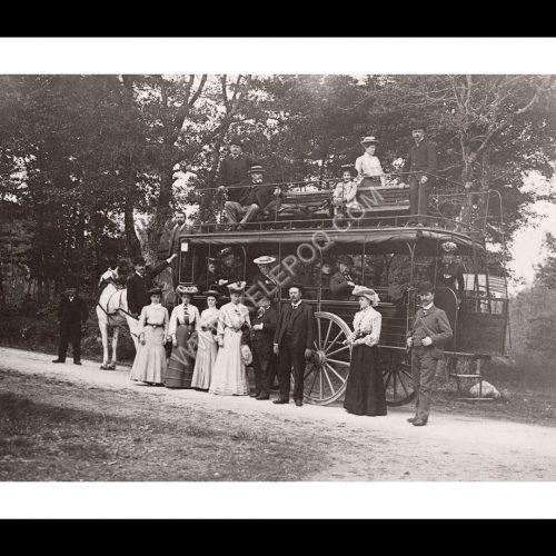 Photo d'époque automobile n°69 - calèche bus
