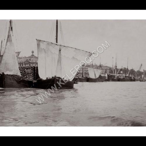 Photo d'époque Bordeaux n°06 - Vieux gréements dans le port