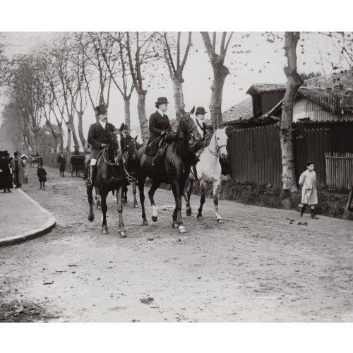 Photo d'époque Chasse n°05 - Chasse à courre route de Biarritz - 1907