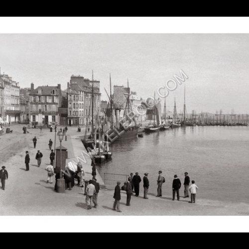 Photo d'époque Cherbourg n°02 - l'avant port quai de Caligny
