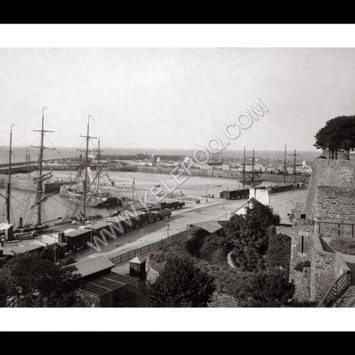 Photo d'époque Granville n°04 - vue générale des bassins