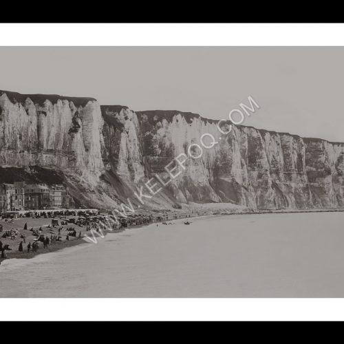 Photo d'époque Le Tréport n°03 - La plage et les falaises