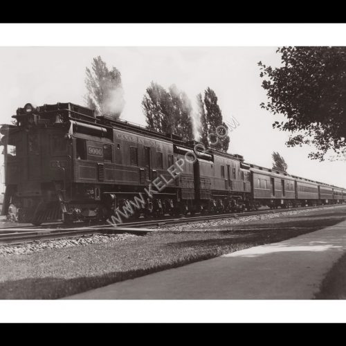 Photo d'époque locomotive n°09 - Train de la Canadian National Railway Company