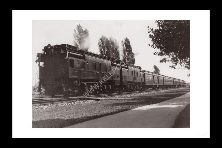 Photo d'époque locomotive n°09 - Train de la Canadian National Railway Company