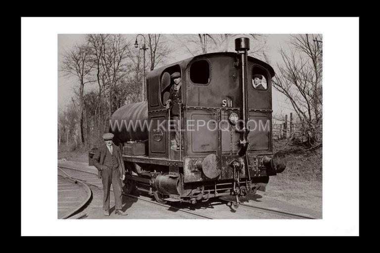 Photo d'époque locomotive n°10 - locomotive sans foyer