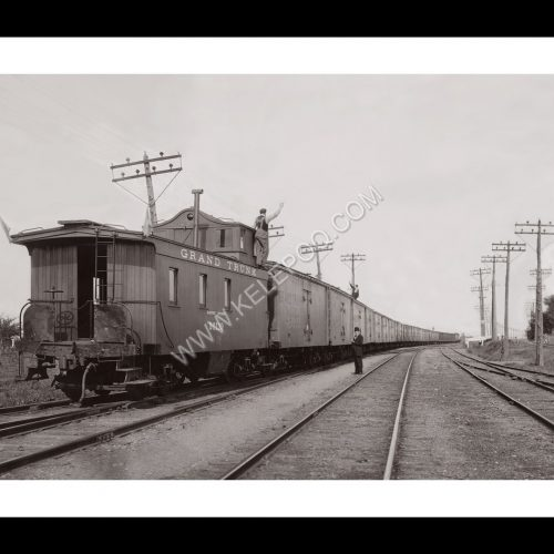 Photo d'époque locomotive n°12 - train de blé - Grand Trunk railway Company Canada