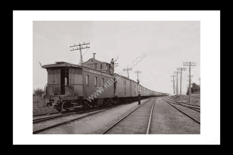 Photo d'époque locomotive n°12 - train de blé - Grand Trunk railway Company Canada