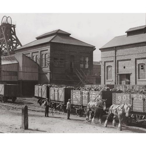 Photo d'époque commerce n°26 - mine de Bolsover - Angleterre - photographe Victor Forbin