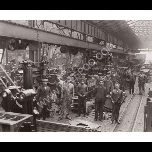 Photo d'époque industries n°09 - travailleurs Southern Railway - Dublin