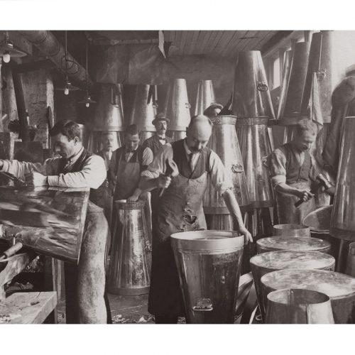 Photo d'époque métiers n°32 - transformation du lait en poudre - Angleterre