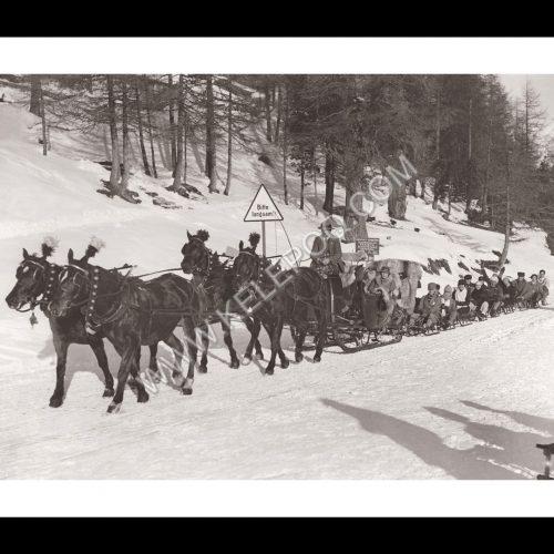 Photo d'époque montagne n°97 - train traîneau - JO hiver Saint Moritz 1927