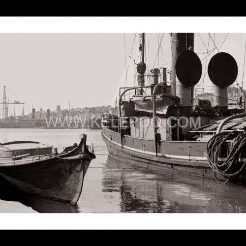 Photo d'époque Marseille n°08 - vieux Port - Mairie - église des Accoules