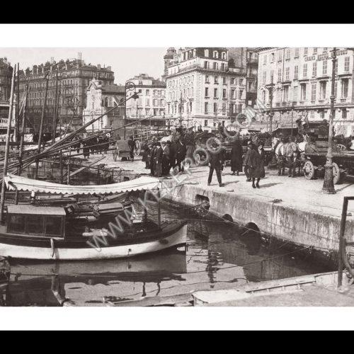 Photo d'époque Marseille n°09 - Grand Hotel Beauvau - eglise St-Ferréol-les-Augustins - Quai des Belges