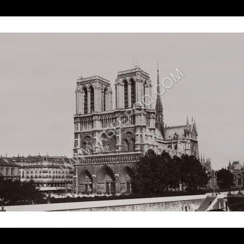 Photo d'époque Paris n°18 - cathédrale Notre Dame de Paris entre 1895 et 1900