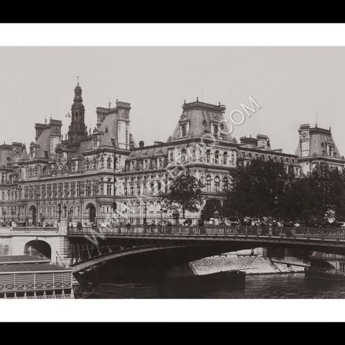 Photo d'époque Paris n°20 - Hôtel de ville entre 1895 et 1900