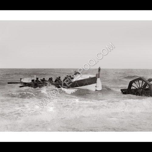 Photo d'époque sur l'eau n°32 - bateau de sauvetage en mer