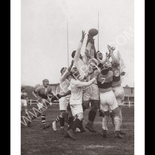 Photo d'époque sport n°54 - Rugby - Armée française contre Paris - Stade Jean Bouin - 1927