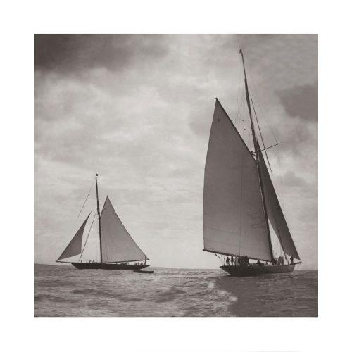 Photo d'époque Sur l'eau 38 - régates de Cowes - photographe Victor Forbin