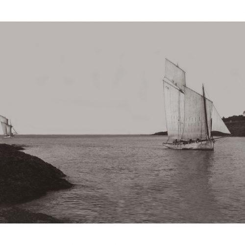 Photo d'époque sur l'eau n°40 - vieux gréement dans la baie de Pornic