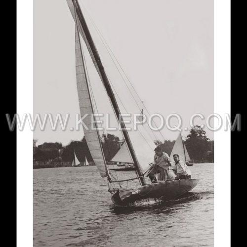 Photo d'époque Sur l'eau n°39 - Course Tamesis Yacht Club - Teddington - Photographe Victor Forbin