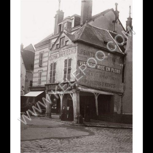Photo d'époque Chartres n°08 - place de l'Etape au Vin - Chartres