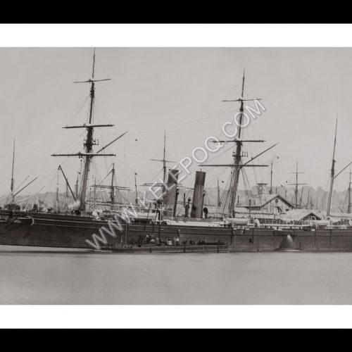 Photo d'époque Havre n°06 - Paquebot transatlantique au Havre