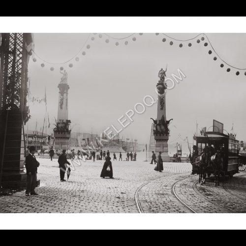 Photo d'époque Marseille 11 - Tramway sur le Port