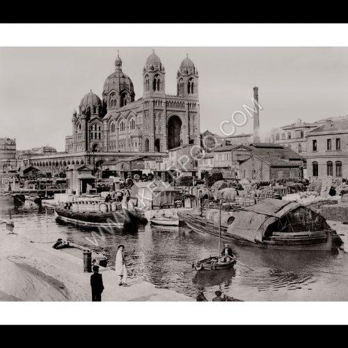 Photo d'époque Marseille n°12 - Hotel Dieu - Hotel de ville - Cathédrale de la Major
